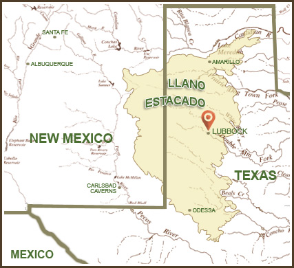 Map of Llano-Estacado