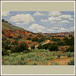 A View of Palo Duro Canyon