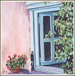 Kathy Hinson Artwork - An Adobe Window