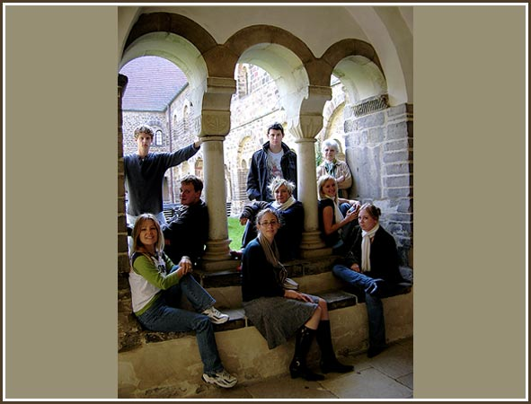 Students & Dr. McClain in Quedlinburg